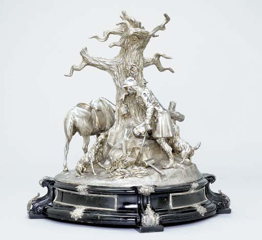 A Victorian silver centrepiece