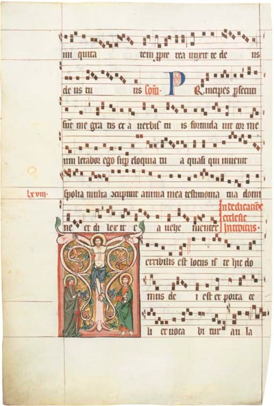 THE CRUCIFIXION, in an initial