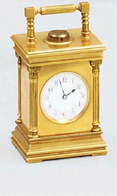 A Swiss gilt-brass minute repe