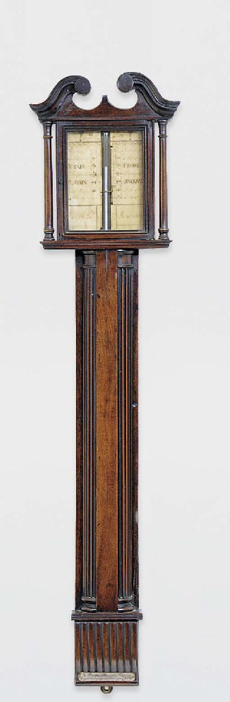 A George III mahogany wall bar