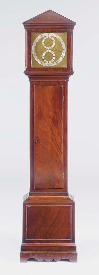 A Victorian mahogany longcase