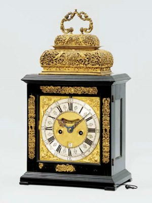 A Queen Anne ebony and gilt-me