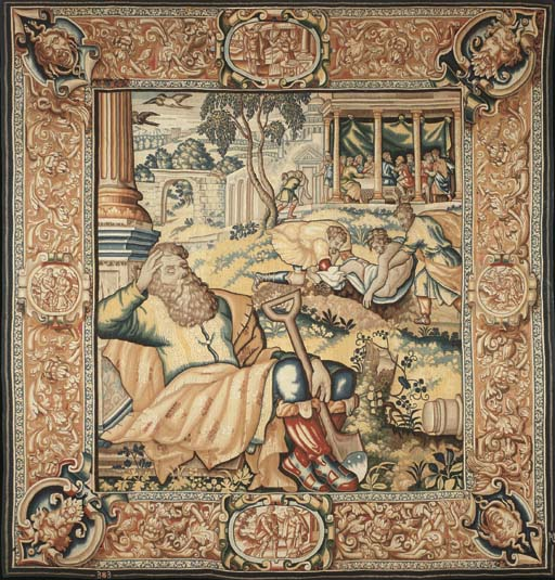 A BRUSSELS BIBLICAL TAPESTRY