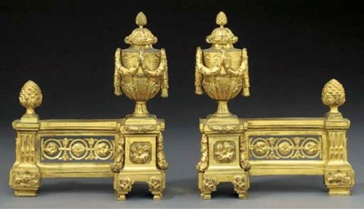A PAIR OF LOUIS XVI ORMOLU CHE
