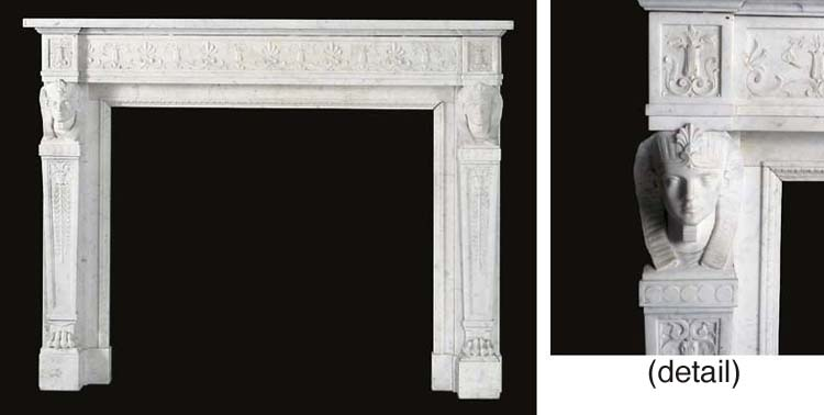 A FRENCH WHITE STATUARY MARBLE