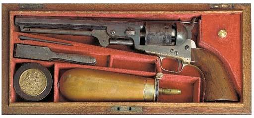 A CASED .36 COLT 1851 MODEL NA