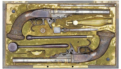 A RARE CASED PAIR OF 40-BORE G