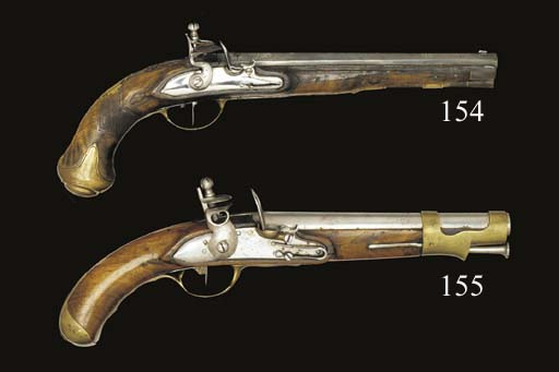 A PAIR OF 40-BORE GERMAN FLINT