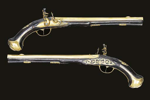 A VERY RARE PAIR OF 22-BORE GE