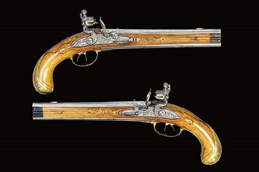 AN UNUSUAL PAIR OF 32-BORE OVE