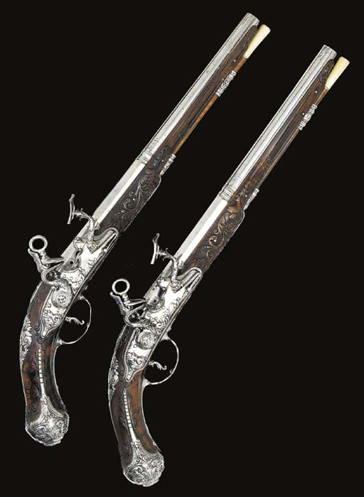 A FINE PAIR OF 38-BORE TUSCO-E