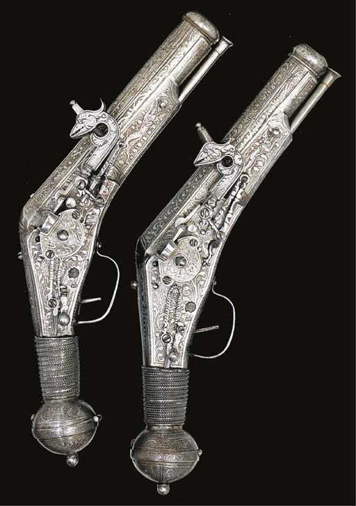 TWO EXTREMELY RARE 7-BORE GERM