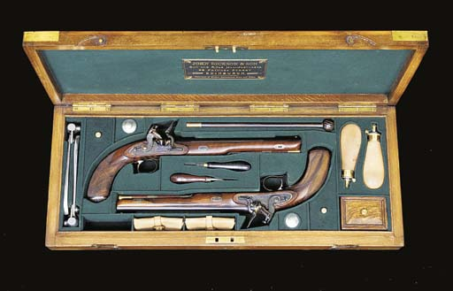 A FINE CASED PAIR OF 32-BORE S