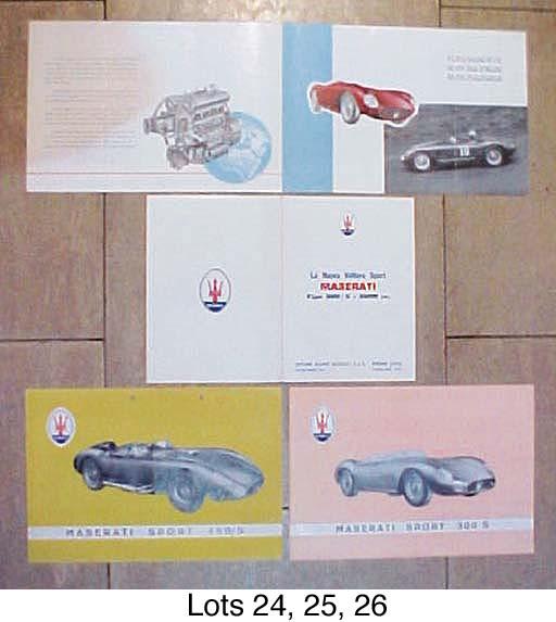 Maserati 300S - Two sales shee