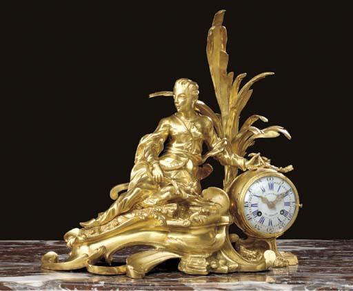 A FRENCH ORMOLU MANTEL CLOCK