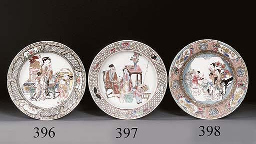 A FINE FAMILLE ROSE SOUP-PLATE