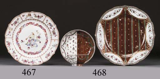 A FAMILLE ROSE 'MUSICIAN' PLATE