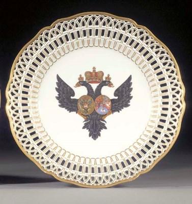 A Berlin Royal armorial desser