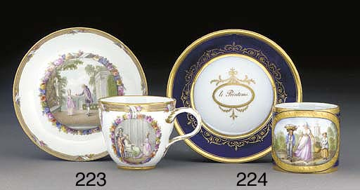 A Berlin cup and saucer