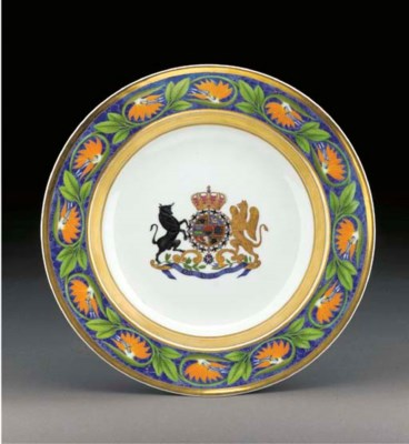 A Berlin armorial soup-plate f
