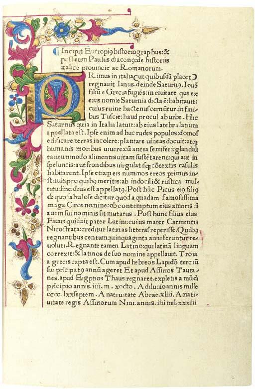 EUTROPIUS (fl. 364-378). Brevi