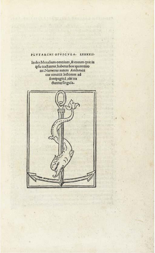 PLUTARCH (46?-120?). Moralia,
