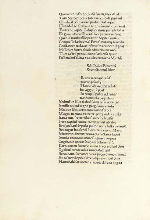 SILIUS ITALICUS (c. 26-101). P