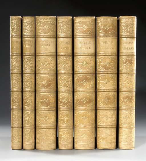 OGILBY, John (1600-1676). [7 w