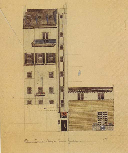 Elevation of proposed Studio i