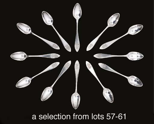 Twenty-seven silver teaspoons