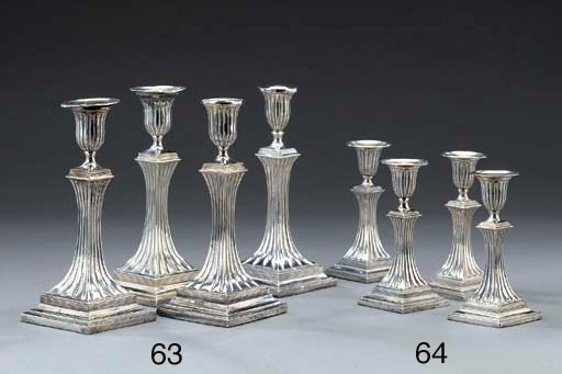 A set of four German silver ca