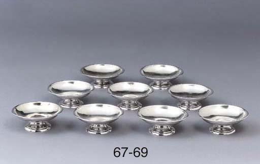 A set of three German silver s