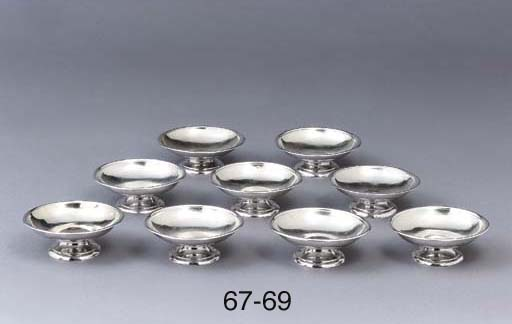 Two German silver sauce-dishes
