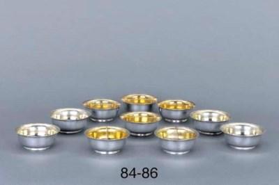 A set of four German silver do