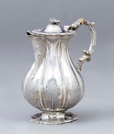 A German silver hot-water jug