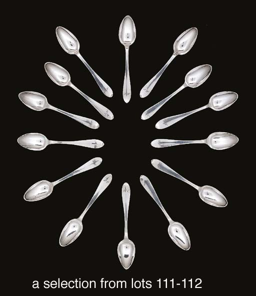 Twenty-six German silver teaspoons