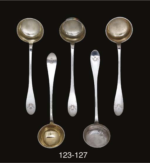 A German silver soup-ladle