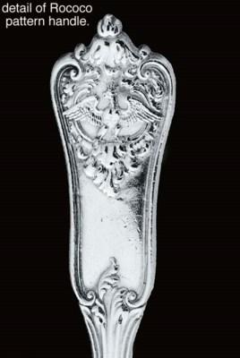 A set of twelve German silver
