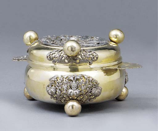 A Silesian parcel-gilt bowl an