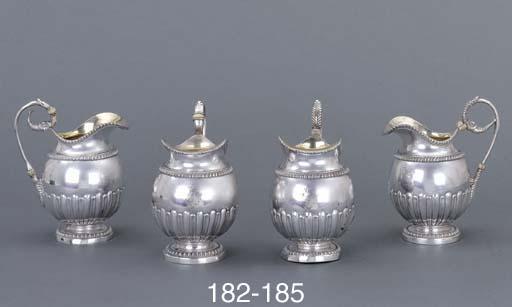 A German silver cream-jug