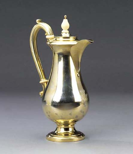 A German silver-gilt jug