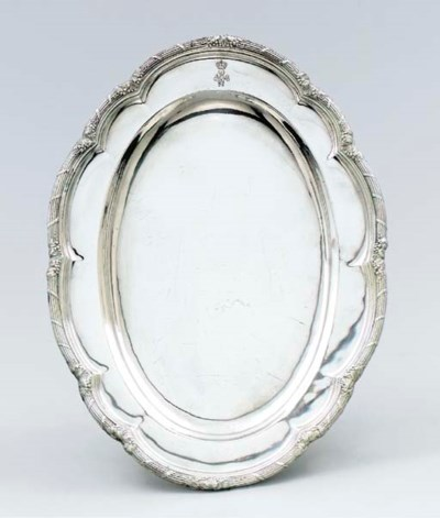 A German silver meat-dish