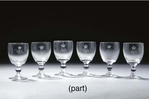 Twelve German engraved monogra