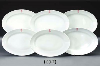 Twelve German porcelain monogr