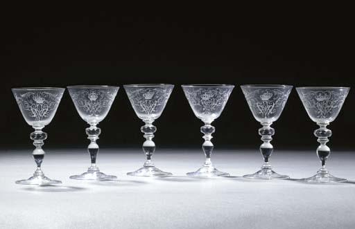 Six Ehrenfeld engraved monogra