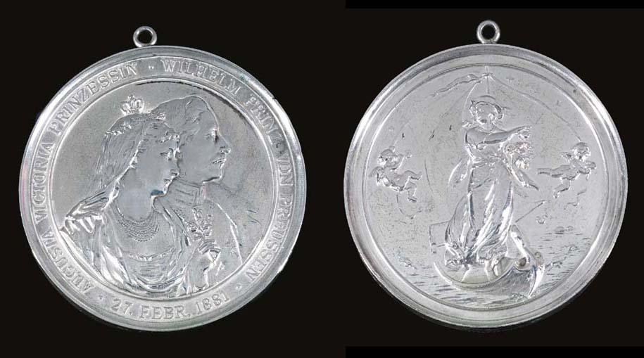 A German silver medallion comm