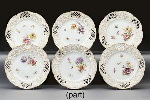 Nine Berlin (K.P.M.) porcelain