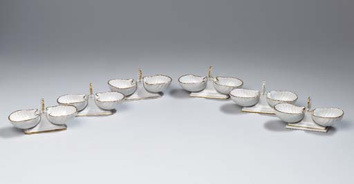 Six Berlin (K.P.M.) porcelain