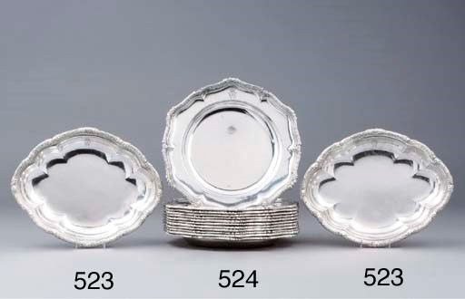 A set of twelve German silver