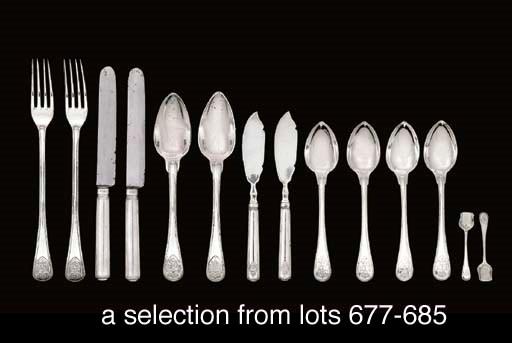 Twelve German silver table-kni